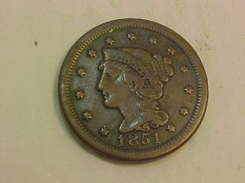 1851 LARGE CENT BRAIDED HAIR       ai33