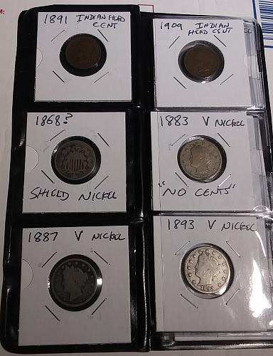1917 Type 1 25c + 11 other VINTAGE U.S. Coins in a Whitman Coin Wallet