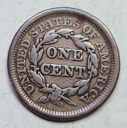 1849 Braided Hair Large Cent Very Fine-30 Light Chocolate Brown No Major Marks!