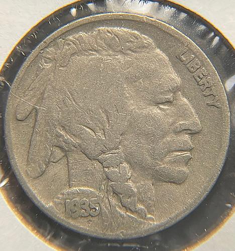 1935 Buffalo Nickels Indian Head Nickel. V2P13R3