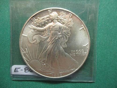 1986 American Silver Eagle.  Item: E 86.
