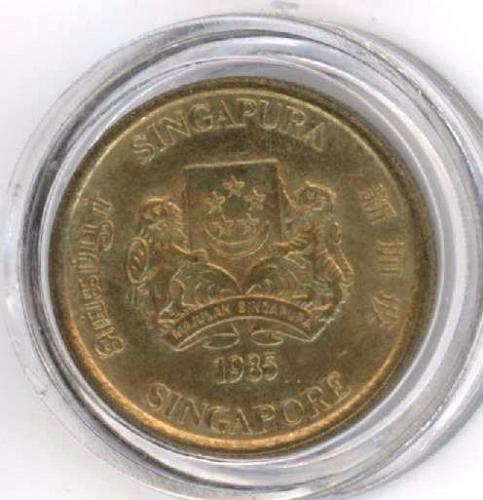 5 Cent 1985 Singapore. UNC