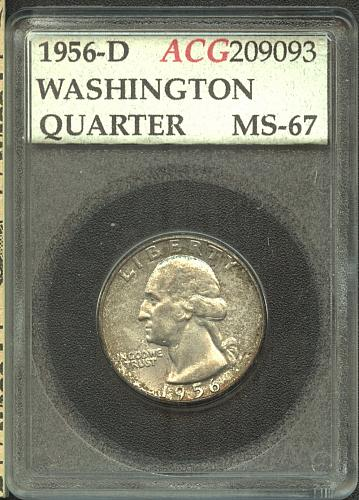 1956-D Washington Quarter  ACG  MS-67