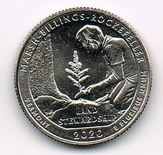 25 Cents / Quarter 2020 S Marsh-Billings-Rockefeller