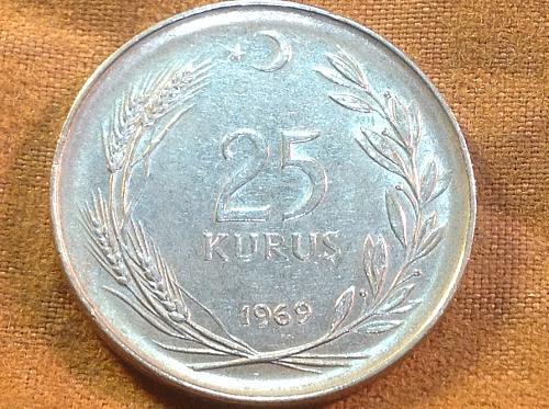 1969 Turkey 25 Kurus