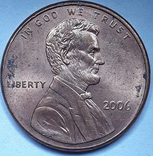 2006p raw ungraded double die Lincoln Cent 2009-1do-007
