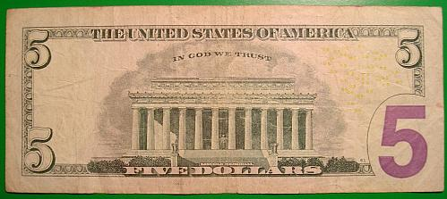 """2006 $5 Federal Reserve Note  """"Green Seal"""" STAR NOTE"""