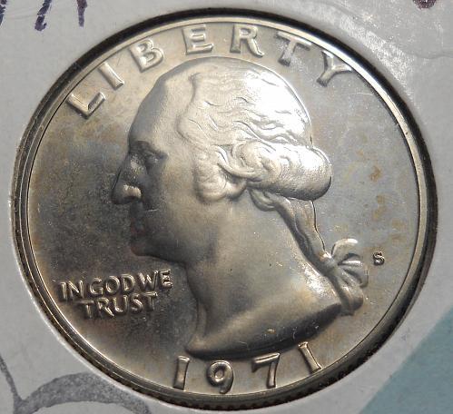 1971-S Proof Washington Quarter.  Original Brilliant Surfaces!