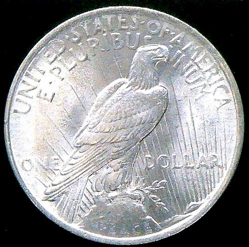 1922 Peace Dollars : Normal Relief Early Silver Dollar V2P13R4