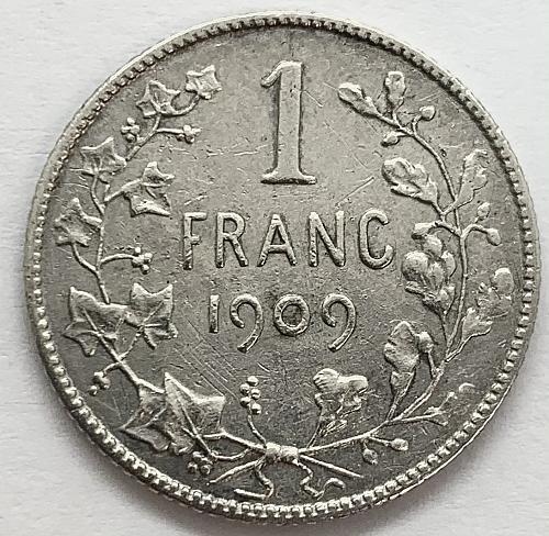 1909 Belgium Franc