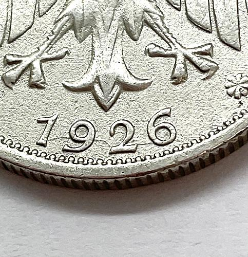 1926 F Germany 2 Reichs Mark