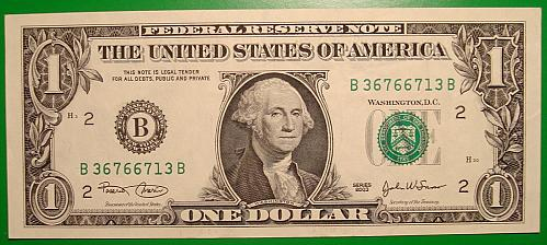 """2003 $1 Federal Reserve Note """"Green Seal"""""""