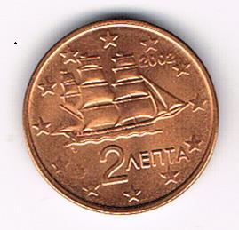 2 Euro Cent, Greece, 2002