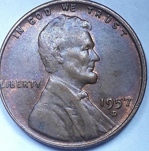 1957d Mint Mark Variety raw ungraded RPM 1957d-1mm-005