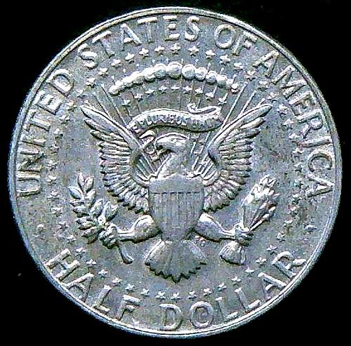 1966 Kennedy Half Dollars 40% Silver Composition.  V2P13R5