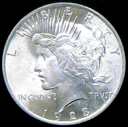 1923 Peace Dollars Early Silver Dollars  V2P14R1