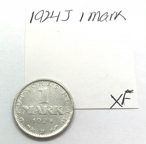 1924 J Germany 1 Mark