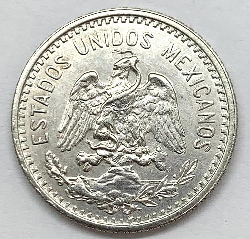 1907 Mexico 20 Centavos - Curved 7 - Cleaned