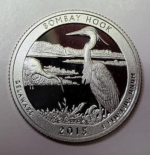 2015-S Delaware-Bombay Hook Clad Proof-65 (GEM) National Parks Quarter