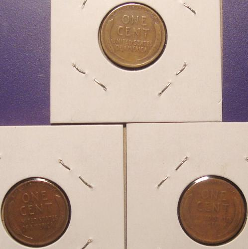1927 PDS Lincoln Wheat Cent 3 Coin Mini Lot