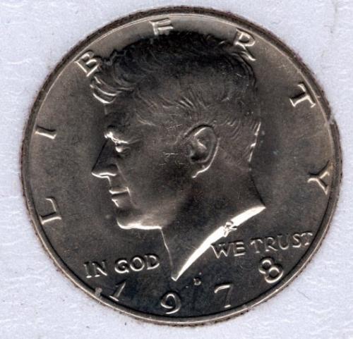 1978 D Kennedy Half Dollars -#5a