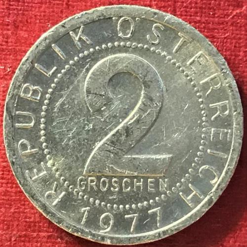 Austria - 1977 - 2 Groschen [#1]