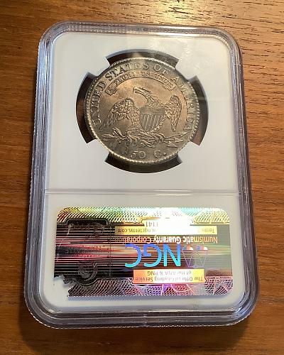 1812 Capped Bust Half Dollar O-104a NGC MS-62 (Toned)