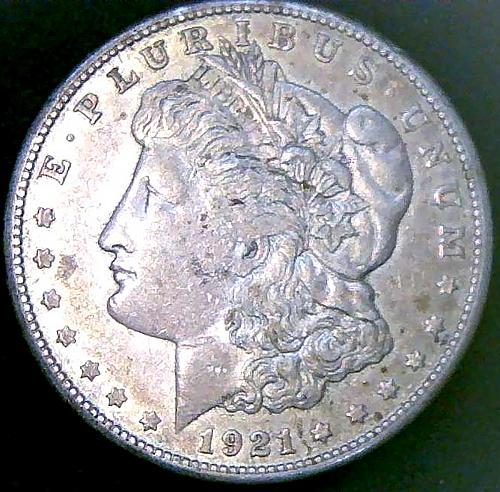1921S Morgan Dollars Early Silver Dollars. V2P14R2