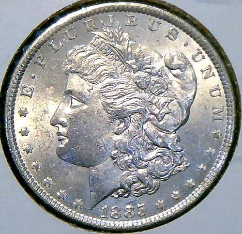 1885 Morgan Dollars Early Silver Dollars. V2P14R2
