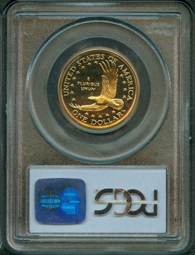 "4 - 2002 - S   SACAGAWEA ""GOLDEN"" DOLLAR   PCGS  PR69DCAM"