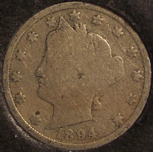 "1894 Liberty Head ""V"" Nickel G4 #0166"