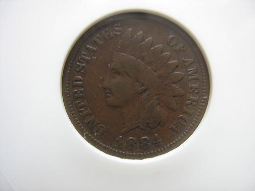1884  Indian Head Cent - Error