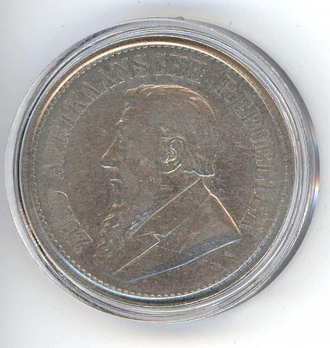 2.5 Shillings 1892 Zuid Afrikaansche Republiek. XF. RARE. ONLY 16 300 minted.