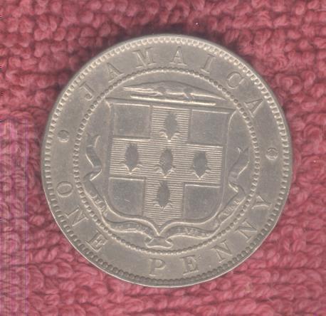 1890 Victoria Jamaica One Penny AU High Grade Low Mintage 36,000 JP17