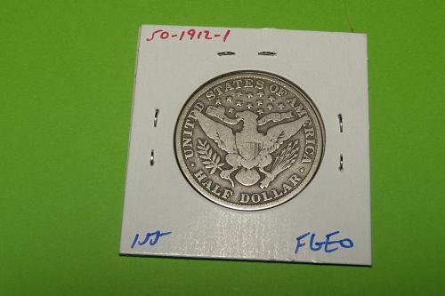 1912 Barber Half Dollar  VG8  #50-1912-1