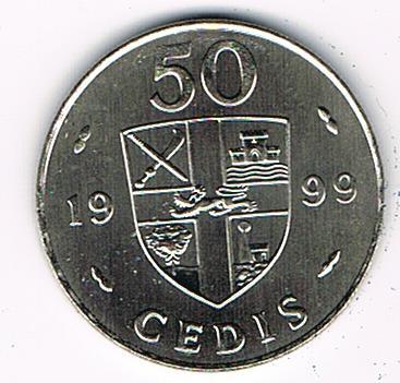 50 Cedis, Ghana, 1999, UNC