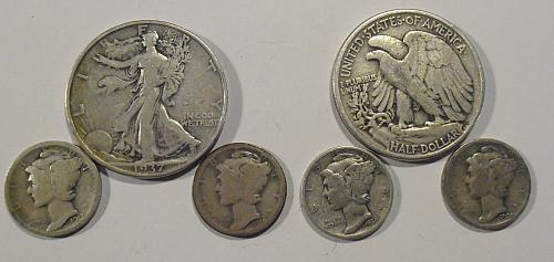 Over one ounce of Silver coins