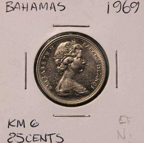 Bahamas 1969 25 cents
