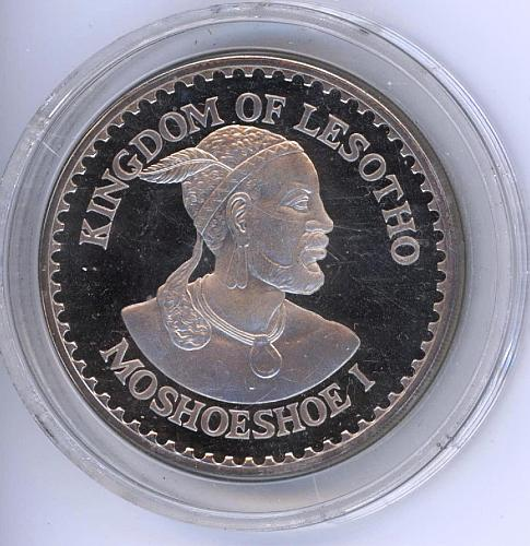 10 Maloti 1984 Lesotho. PF. Silver. Only 10 000 Minted. Scarce