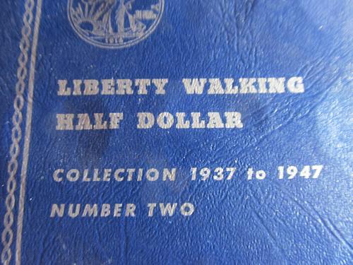 Whitman Walking Liberty Half Dollar Folder Number 2 1937-47- Nice Pre Owned