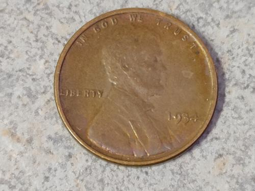 1934 P&D WHEAT PENNY'S NICE AU