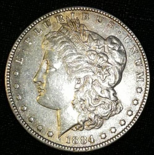 1884 P Morgan Dollars Extremely Fine
