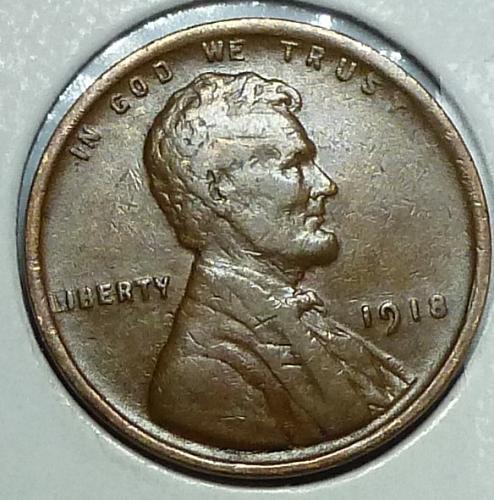 1918 P Extra Fine Lincoln Wheat Cent XF ( E-652 )