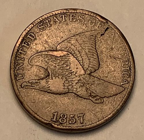 1857 Flying Eagle Cent Choice F15 VARIETY/ERROR [FE 17]