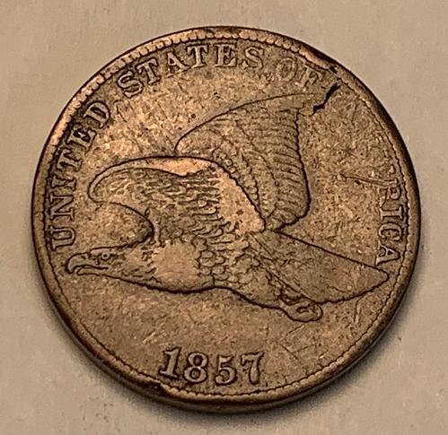 1857 Flying Eagle Cent Choice F15 VARIETY/ERROR [FE 17]