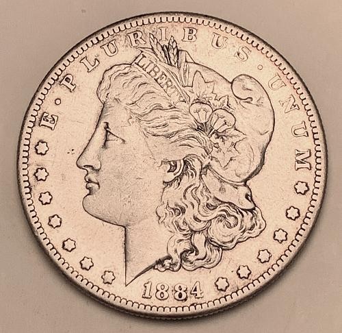 1884-S Morgan Silver Dollar XF [MDL 569]