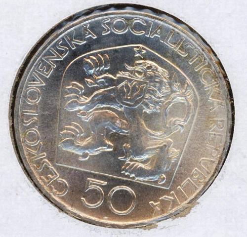 50 Kcs 1973 Czechoslovakia Jungmann. UNC