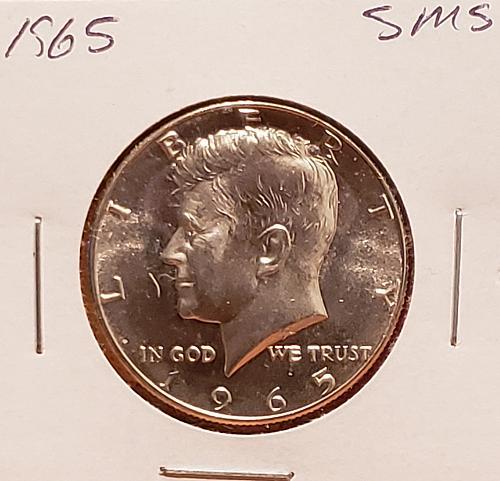 1965  Kennedy Half Dollar -SMS -40% Silver