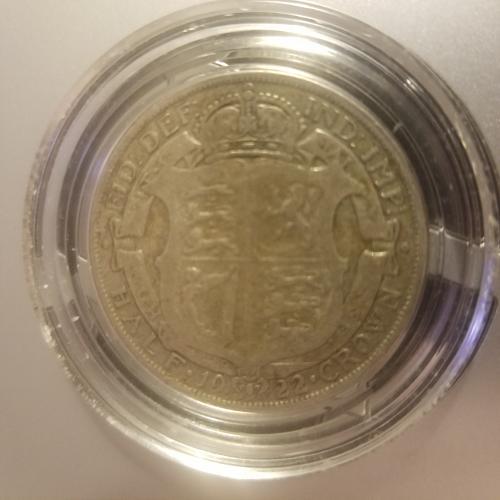 1922 George V Half Crown