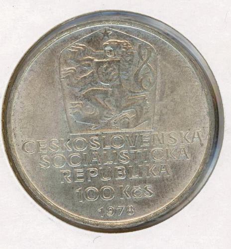 100 kCS 1978 Czechoslovakia UNC. Silver